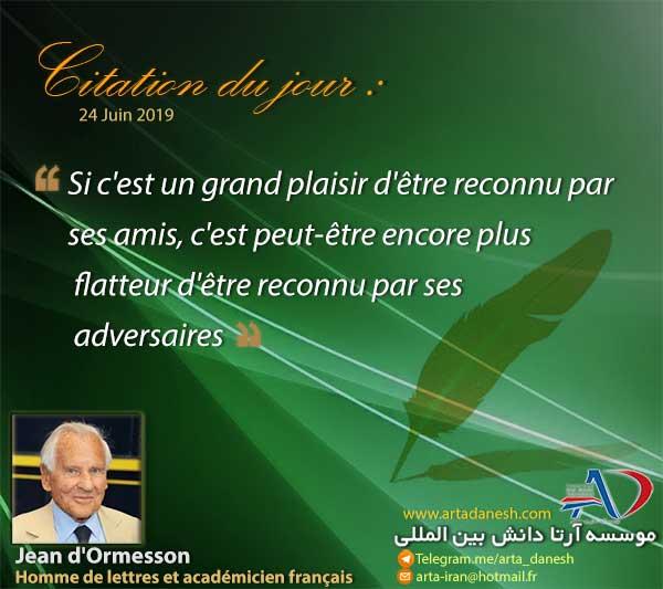 آرتا دانش بین المللی - Jean d'Ormesson